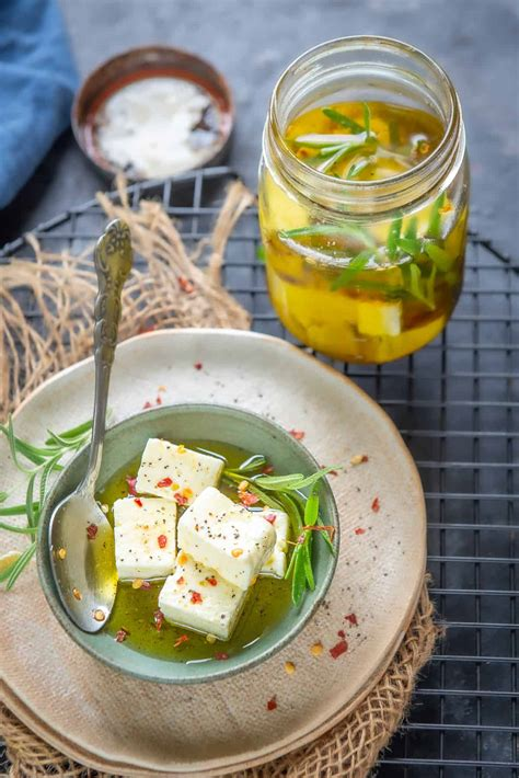 Marinated Feta Cheese Recipe (Step by Step + Video