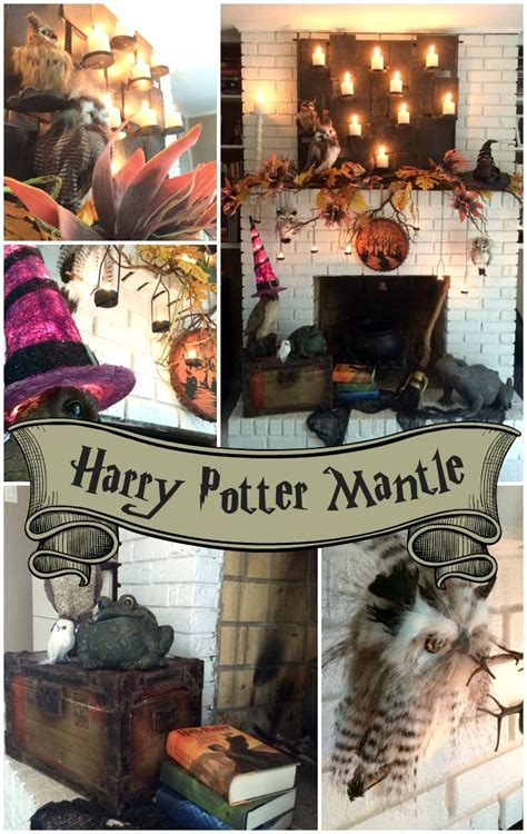 A Harry Potter Inspired Mantle   Harry potter decor, Harry