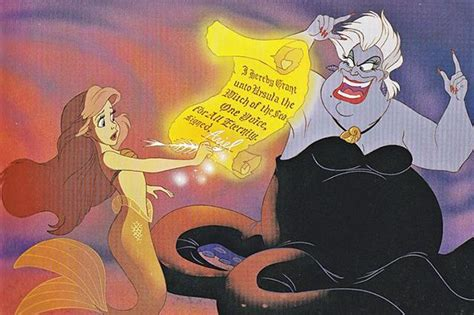 Ursula's Evil Contract From 'The Little Mermaid' Would