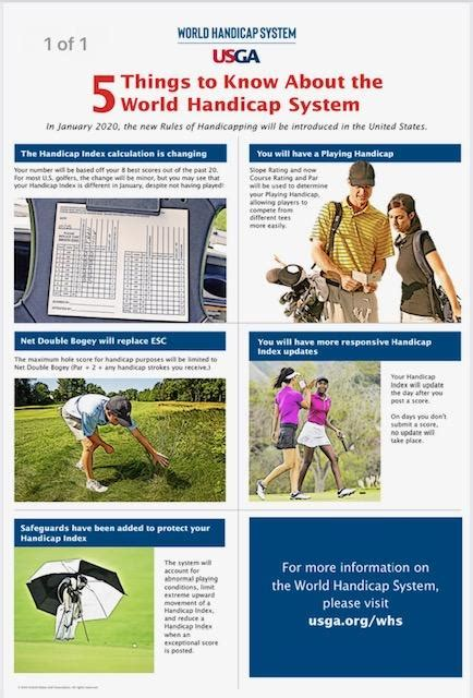 5 Key Points for Understanding the New Handicap System