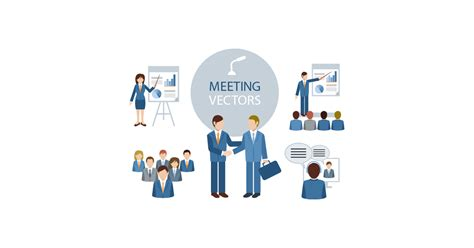 Business Meeting Illustrations - Free Vector and PNG | The