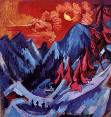 Ernst Ludwig Kirchner-1880 to 1938-Expressionist-Art