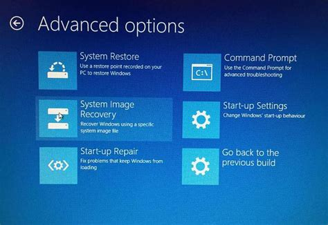 System Image Recovery option missing Solved - Windows 10