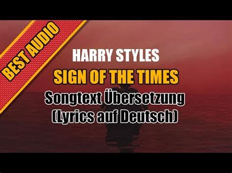 Harry Styles - Sign Of The Times - Songtext Übersetzung